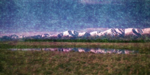 Otago New Zealand landscape mountain range spring photograph