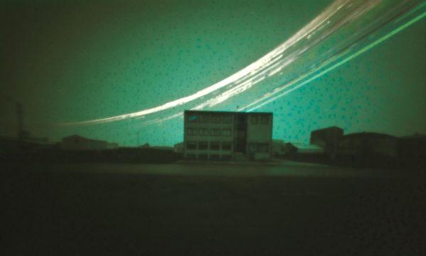 a fine art print of a solargraphy in Raufarhofn Iceland
