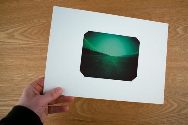A fine art print showing the landscape near Akureyri, Iceland