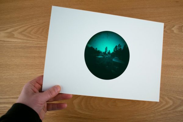 An example of a fine art print of KEVO research chambers, located in northern Finland