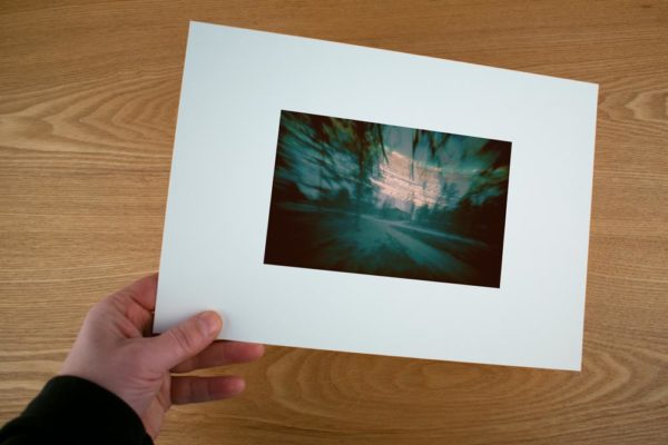 A solargraphy fine art print showing the Finnish Meteo Station in Sodankylä, Finland