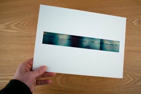 A panoramic solargraphy fine art print of the research area Ny-Ålesund Spitsbergen