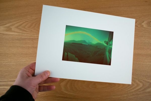 A solargraphy fine art print of the Zackenberg research station area, Greenland