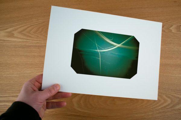 Multiple exposures in a solargraphy fine art print on Herschel Island, Yukon Coast, Canada
