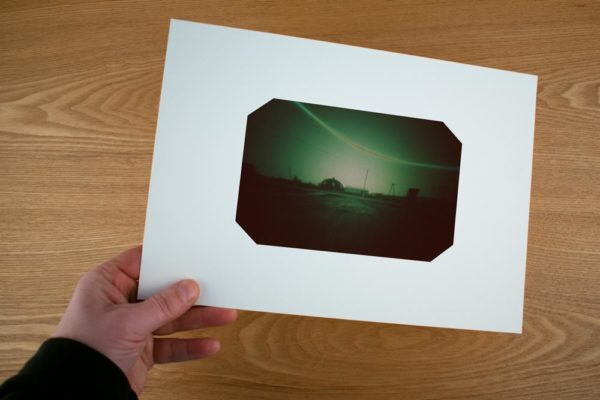 A solargraphy fine art print of Yert Research Station in Siberia