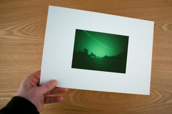 A solargraphy fine art print of Kasjabasavo Spasskaya Pad Forest Research Station in Russia