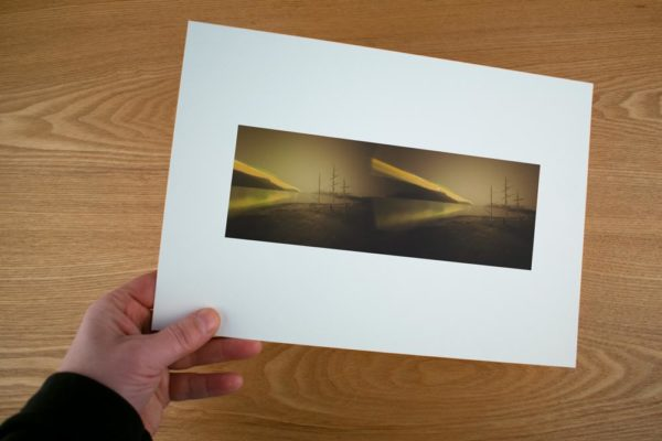 A solargraphy fine art print of Morgans Skip an art research facility in Norway
