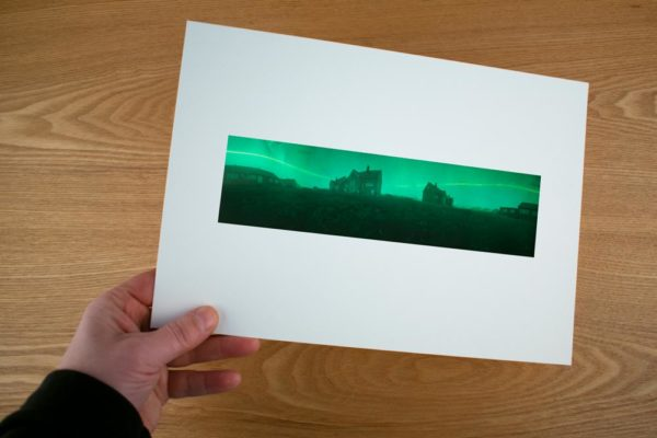 A solargraphy 360 Panorama fine art print of the Dutch Arctic Station in Ny-Ålesund Spitsbergen
