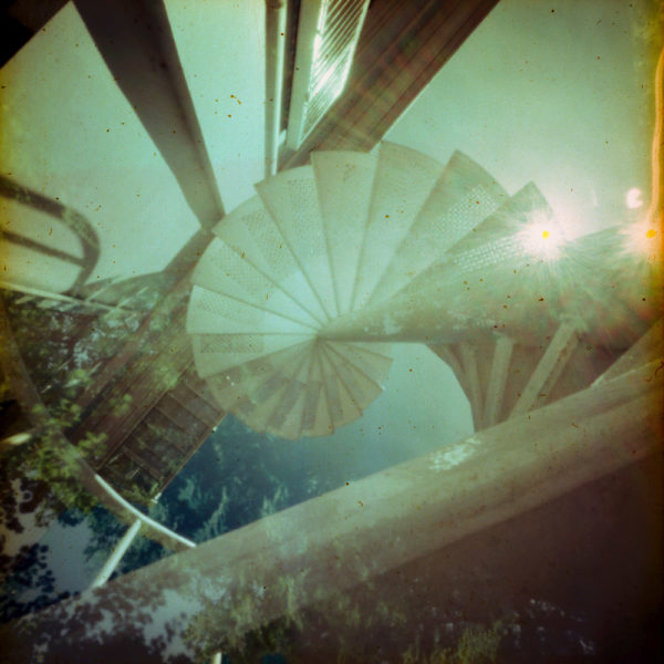 example of a fine art print of a multi exposed photo of stairs at paleis soestdijk