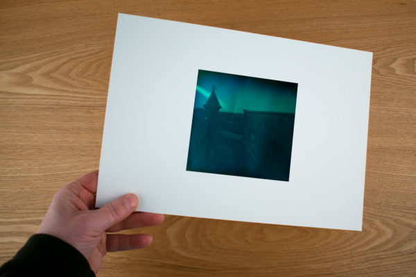ann example of a fine art print solargraphy from the top of Hooghiemstra in Utrecht