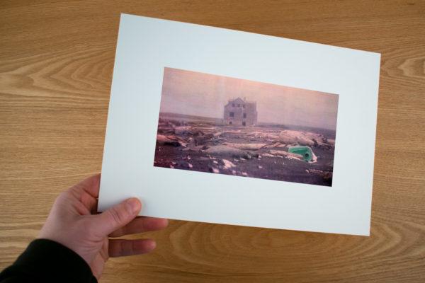 fine art print of RIF raufarhofn iceland old farm